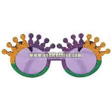 mardi gras glasses glittered mardi gras crown shaped sunglasses wholesale china