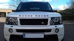 light blue range rover range rover sport drl headlight conversions 2005 2009 model