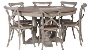 distressed round dining table attractive gray round dining table designs 48 distressed driftwood