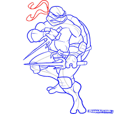 how to draw a ninja turtle step by step characters pop culture