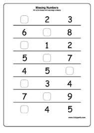 kindergarten missing number worksheets free worksheets library