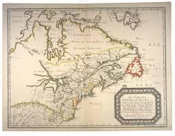 New France Map by 1656 Le Canada Ou Nouvelle France Nicolas Sanson 1600 1667