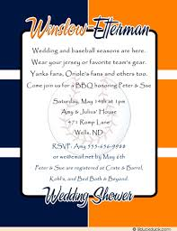 co ed bridal shower yankees orioles co ed shower invitation wedding groom