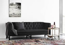 contemporary sofa leather wooden polyurethane ej 315 by