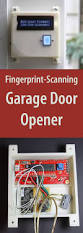 resource industries garage door diy fingerprint scanning garage door opener tech key and doors