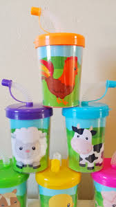Barn Animal Party Supplies Farm Animals Party Favor Cups Do It Yourself Diy Birthday Treat