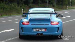 blue porsche mexico blue porsche 997 gt3 rs mk2 sound accelerations 1080p hd