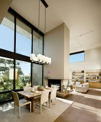 terrific tall ceiling living room contemporary with piithced roof