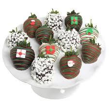 winter wonderland holiday belgian chocolate covered strawberries