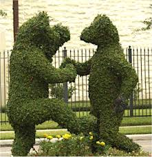 Elephant Topiary Bear Topiary