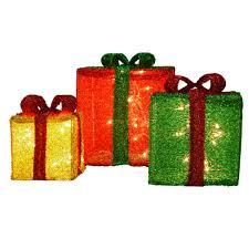 3d pre lit presents yard