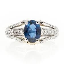 oval sapphire engagement rings richard krementz 1 28 carat oval sapphire platinum
