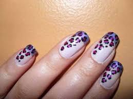 purple leopard nail design youtube