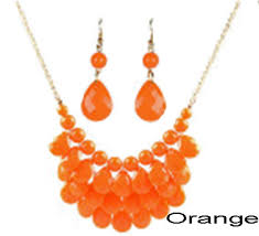 orange statement necklace images Cheap wholesale jewelry chico 39 s statement necklace and earring jpg