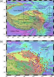 Tibetan Plateau Map Crustal Velocity Structure Of The Northeastern Tibetan Plateau