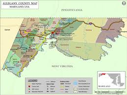 maryland map by county outline allegany county map maryland