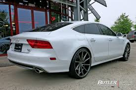 audi a7 modified audi a7 custom wheels vossen cvt 22x et tire size r22 x et