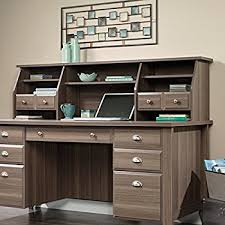 Sauder White Desk With Hutch Amazon Com Sauder Shoal Creek Hutch Organizer Jamocha Wood