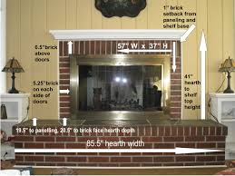 good fireplace measurements u003d pretty fireplace results the
