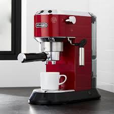 delonghi magnifica red light delonghi espresso crate and barrel