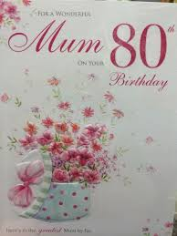 80th birthday card mum 80th birthday card mum ebay printable