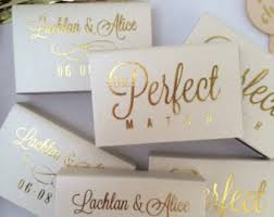 wedding matchbooks wedding matches etsy