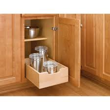 roll out drawers for kitchen cabinets rev a shelf 5 62 in h x 14 in w x 22 5 in d medium wood base