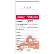 emergency phone number list template