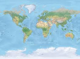 World Map Australia by Detailed World Map Shaded Relief Miller Europe Africa One Stop Map