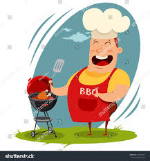 man chef hat cooking whole chicken stock vector 649837843