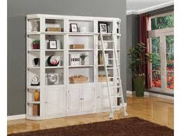 Library Bookcases With Ladder by Parker House Boca Five Piece Library Wall Unit Beck U0027s Furniture