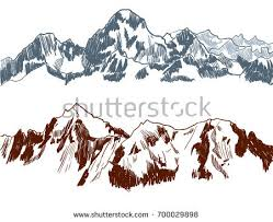 love mountains vector freehand drawing stocking stock vector