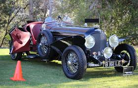 old bentley convertible divining character in a bespoke bentley