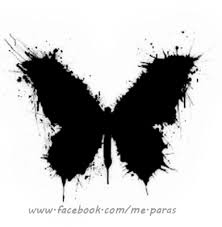 abstract black butterfly with some white accents uhm i
