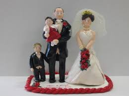 personalised family of toppers for your wedding cake craftjuice