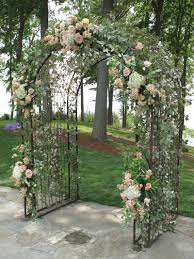 wedding arch used weddings williamsburg floral