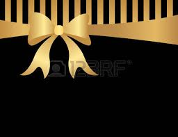 black and gold ribbon abstract background with black and goldstripes gold ribbon