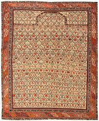 antique silk and wool dagestan prayer rug 43907 by nazmiyal