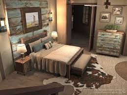 Master Bedroom Design Concept Turquoise Wash Barnwood Neutral - Rustic bedroom designs