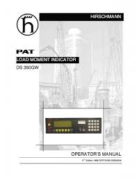 pat hirschmann ds 350 manuals free download