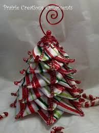 quilted ornament stripe ribbon tree by myprairiecreations