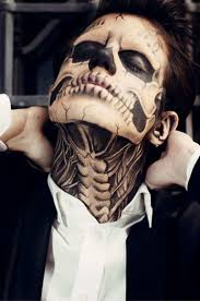 halloween skeleton face painting 45 best makeup images on pinterest make up fantasy makeup and