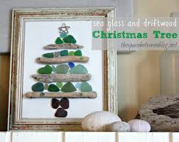 christmas wonderful sea glass and driftwood christmas tree