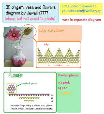 3d Origami Flower Vase Instructions Diagrams Flickr