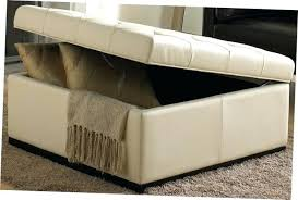 Ottoman With Tray Square Storage Ottomans Great Large Leather Ottoman With Storage