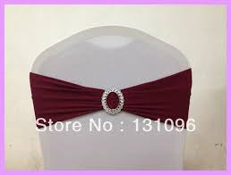 spandex chair bands 100pcs 28 burgundy lycra chair band with oval buckle