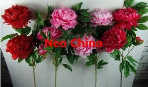 silk flowers wholesale wholesale 3 wealth peony flowers high 115cm wedding bouquets