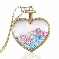 love crystal necklace images Best korean heart pendant flowers love crystal variety dried jpg