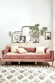 Velvet Sofa Bed Pink Velvet Sofa Upholstered Of Vintage Design For A Refined Space