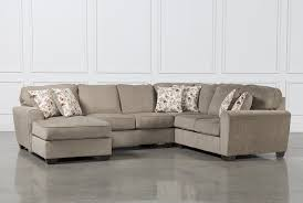 Corner Lounge With Sofa Bed Chaise by Patola Park 4 Piece Sectional W Laf Corner Chaise Living Spaces